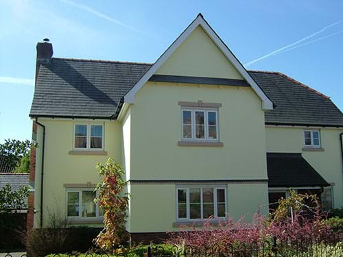 Recent exterior paint job on new build house