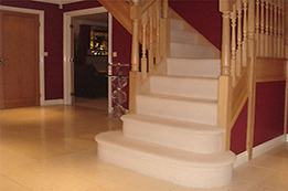 Newly painted and designed stair case