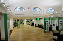 Lloyds bank in Chepstow interior decorated