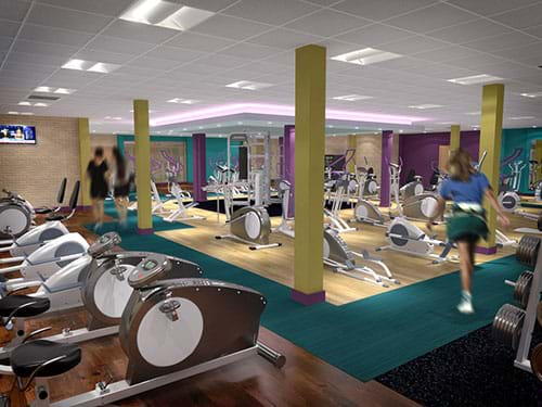 Llantrsant leisure centre gym recently decorated