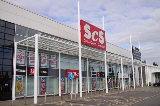 scs store cardiff painted exterior